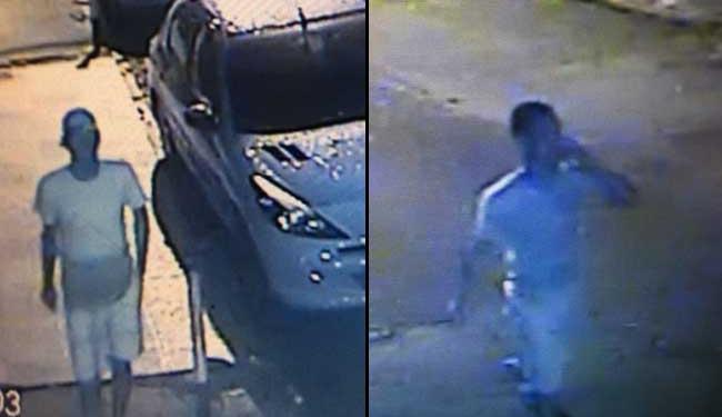 Dupla é vista andando na rua portando as armas que provavelmente utilizaram no crime - Foto: Ascom | Polícia Civil