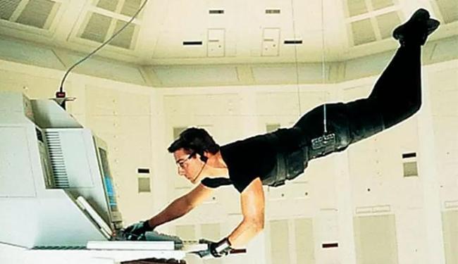 Tom Cruise durante o filme
