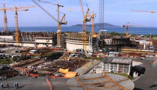 Angra 3 ainda está em construção - Foto: Divulgação  Eletrobras