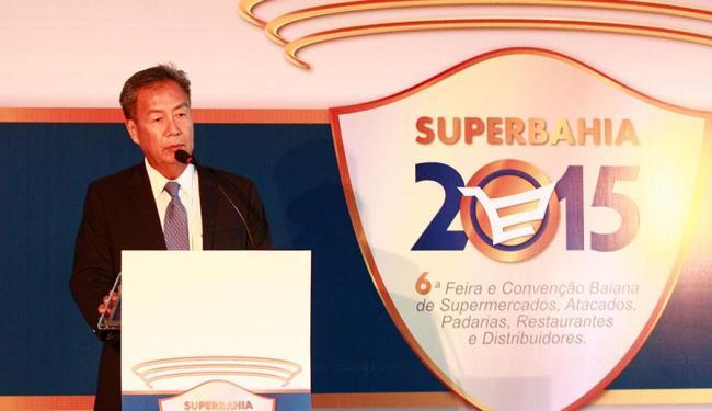 Em almoço de abertura da SuperBahia, Yamada também fez crítica aos ajustes econômicos do governo - Foto: Adilton Venegeroles   Ag. A TARDE