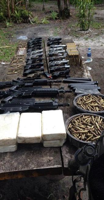 Armamento era alugado para ações criminosas segundo major - Foto: Divulgação   Polícia Militar