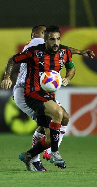 Escudero recebeu o terceiro cartão amarelo no jogo contra o Oeste, na terça, 25, no Barradão - Foto: Eduardo Martins   Ag. A TARDE