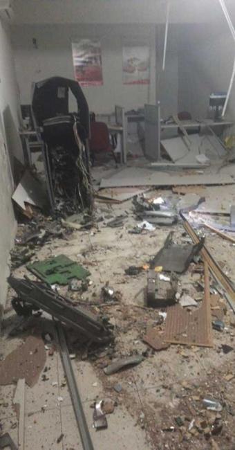 Posto do Bradesco ficou parcialmente destruído - Foto: Divulgação   Site Itiruçu Online