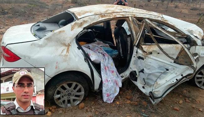 Carro ficou destruído após acidente, que aconteceu próximo a Jaguarari - Foto: Divulgação | Polícia Rodoviária Federal