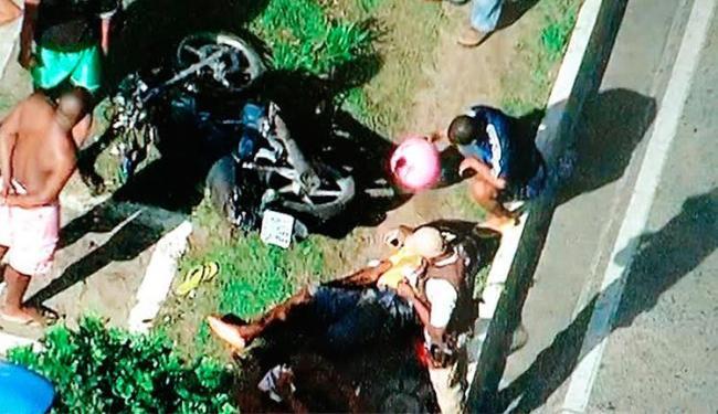 Acidente aconteceu na manhã desta sexta, 21, na avenida Centenário - Foto: Reprodução   Record