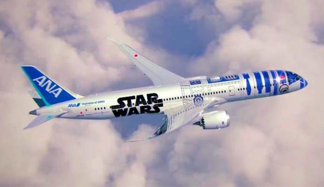Aeronave tem o desenho do robô R2-D2 - Foto: All Nippon Airways | Divulgação