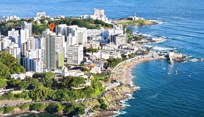 Projeção mostra como será torre residencial (em destaque) - Foto: Divulgação