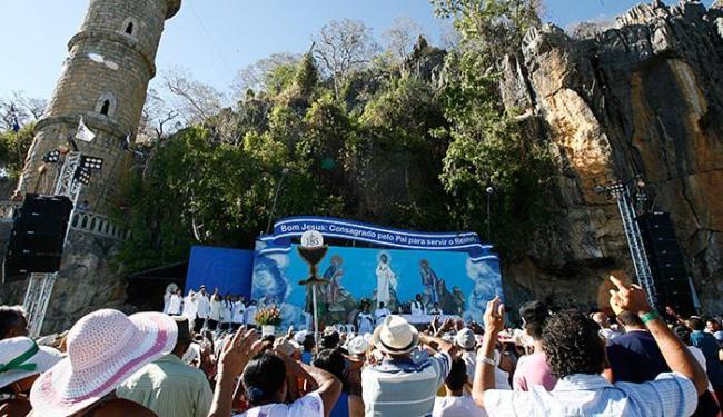 Santuário recebe por ano uma média de 1,8 milhão de visitantes. - Foto: Gildo Lima