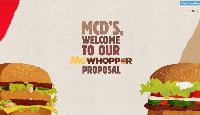 Proposta da Burger King possui até um site na internet - Foto: Reprodução