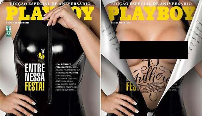 Revista homenageai o ato de se despir na capa - Foto: Divulgação