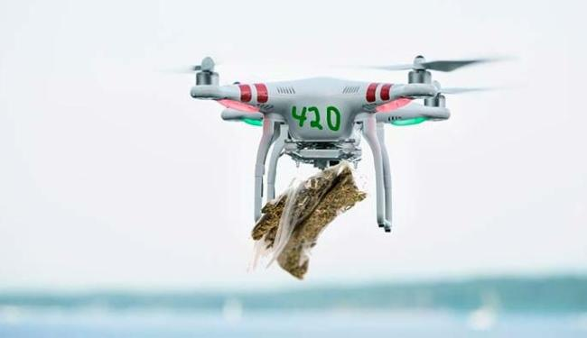 Maconha seria entregue aos pacientes com um drone - Foto: Divulgação