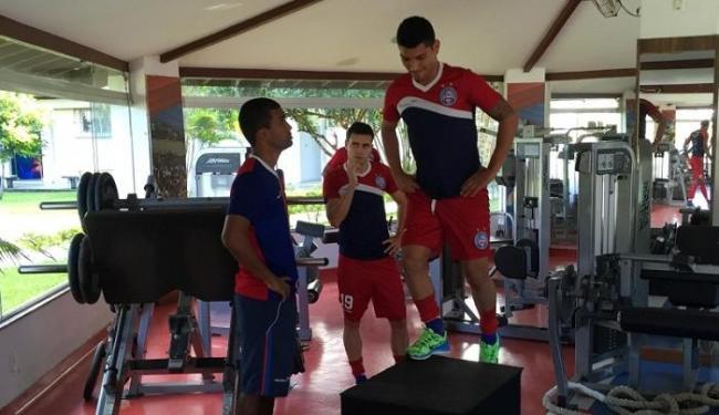 Os jogadores que atuaram mais de 45 minutos fizeram apenas treino físico - Foto: Divulgação | E.C. Bahia