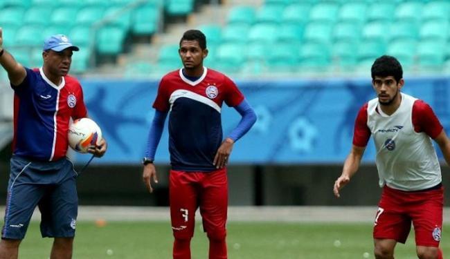 O elenco tricolor treinou na tarde desta segunda, 10, e está pronto para pegar o Timbu - Foto: Divulgação | Felipe Oliveira | E.C. Bahia