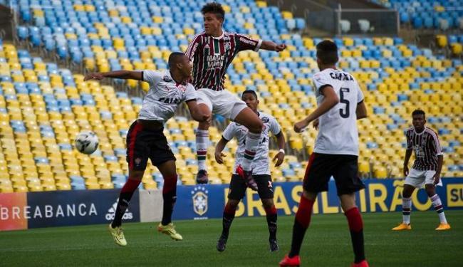 Com a vantagem no placar, o Vitória se defendeu bem, mas o Flu conseguiu empatar no 2º tempo - Foto: Bruno Haddad | Fluminense F.C. | Divulgação