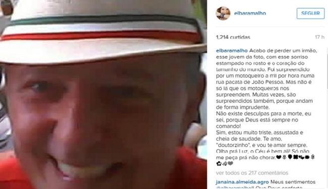 Cantora paraibana lamentou a morte do irmão em sua rede social - Foto: Reprodução   Instagram