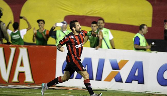 Escudero abriu o marcador para o Vitória no Barradão - Foto: Fernando Amorim | Ag. A TARDE