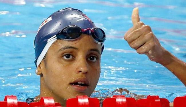A brasileira conquistou a prata nos 50 m costas - Foto: Michael Dalder l Reuters