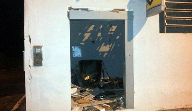 A agência do Banco do Brasil foi uma das agências que foi atacada pelos bandidos - Foto: Reprodução | Blog Marcos Frahm