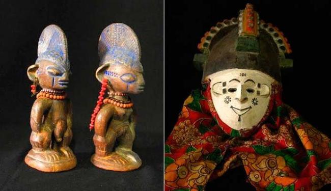 Esculturas e máscaras estarão expostas no Palacete das Artes - Foto: Divulgação
