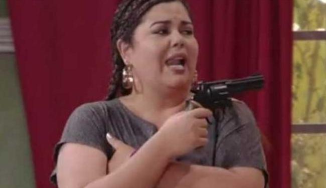 A atriz interpretou uma sequestradora no programa - Foto: Reprodução   TV Globo