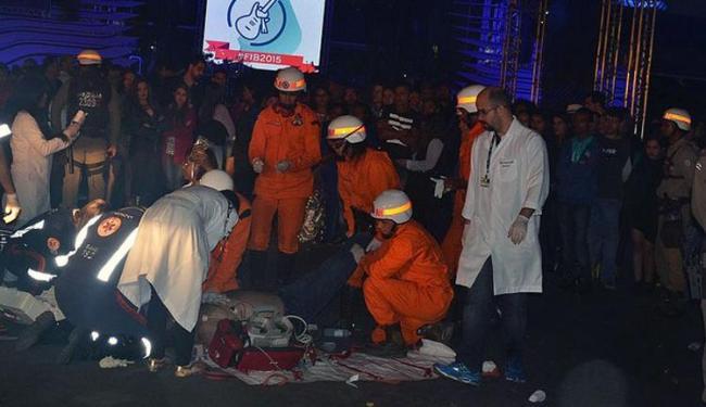 A vítima recebeu atendimento médico no local, mas não resistiu - Foto: Reprodução | Blog do Marcelo