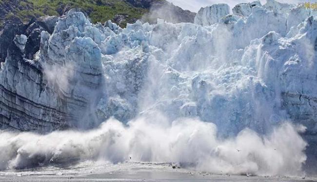 Geleiras derretem e causam o aumento do nível do mar - Foto: Divulgação