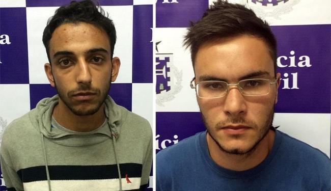 Bruno e Rafael foram presos em flagrantes em uma agência da Barra - Foto: Divulgação   Polícia Civil