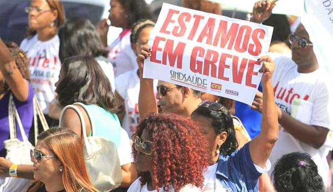 Durante greve, servidores realizaram protestos em vários pontos da cidade - Foto: Edílson Lima | Ag. A TARDE
