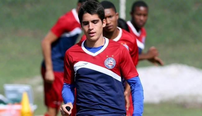 Gustavo deu o passe para o gol de Kieza contra o América-MG e tem sido um dos destaques do Bahia - Foto: Felipe Oliveira | E.C. Bahia | Divulgação