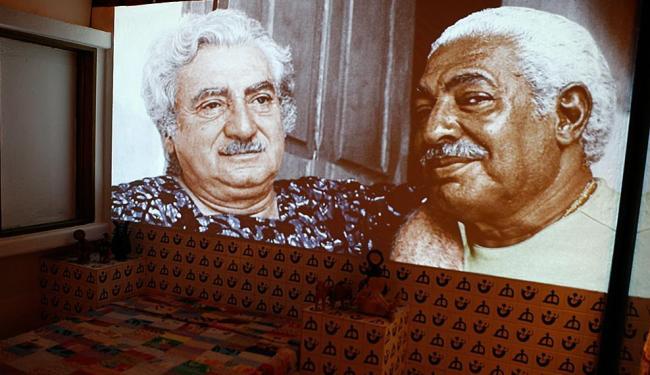 Vídeo exibido no museu-memorial traz Jorge em momentos com o amigo Dorival Caymmi - Foto: Marco Aurélio Martins | Ag. A TARDE