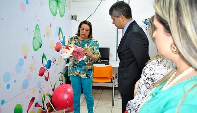 Maurício Barbosa visitou a ludoteca, que é a quarta inaugurada em Salvador com o apoio do Instituto - Foto: Divulgação l Ascom SSP