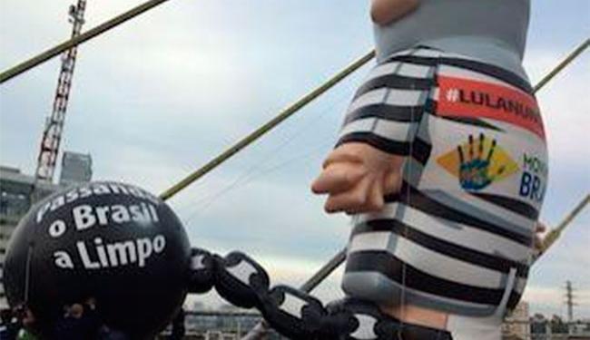 Maioria das publicações citou presença do boneco de Lula em São Paulo - Foto: Reprodução | Twitter