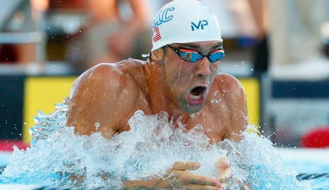 Michael Phelps terminou a prova dos 200m peito em 5º lugar - Foto: Soobum Im | Reuters