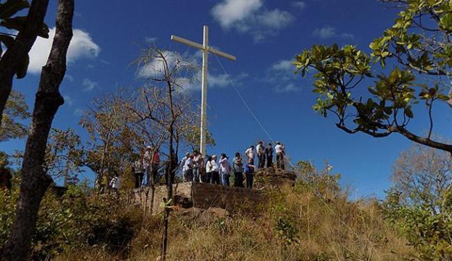 O cruzeiro do parque do Santo Cristo pode ser visto de quase todo o município - Foto: Miriam Hermes l Ag. A TARDE