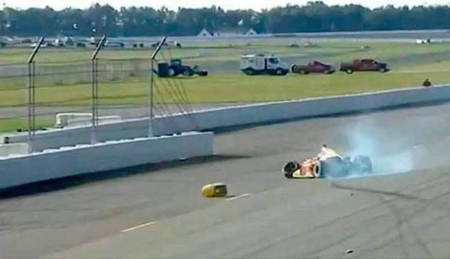 Piloto foi atingido por destroços de outro acidente - Foto: Reprodução