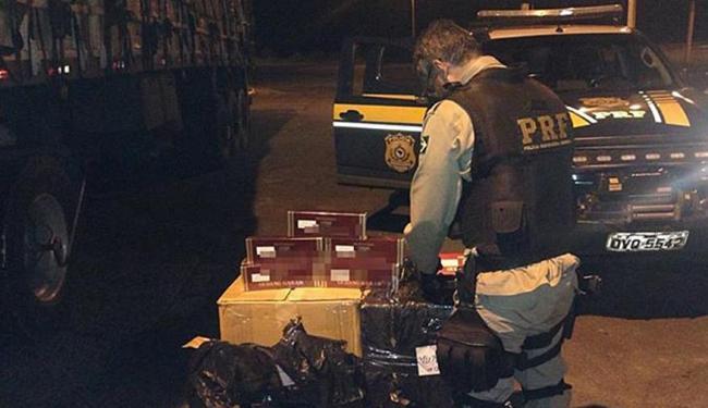 A abordagem policial ocorreu no município baiano de Santo Estevão - Foto: Divulgação   PRF