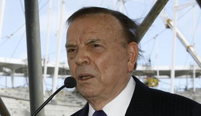O ex-presidente José Maria Marin está preso na Suiça por corrupção - Foto: Margarida Neide | Ag. A TARDE