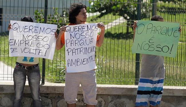Moradores repudiaram demissões e cobraram mais empenho na requalificação do parque - Foto: Marco Aurélio Martins l Ag. A TARDE