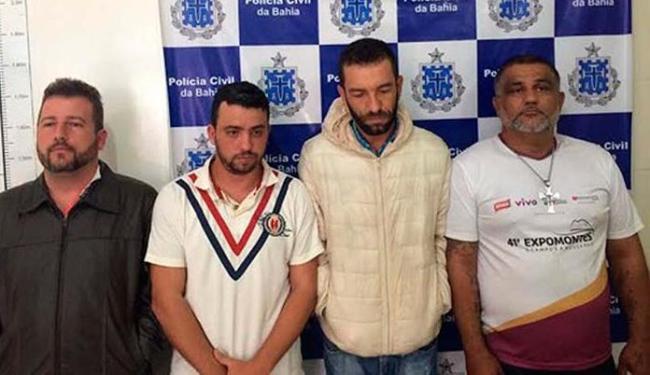 Quadrilha foi seguida até o esconderijo, onde foi presa pelos agentes - Foto: Polícia Civil | Divulgação