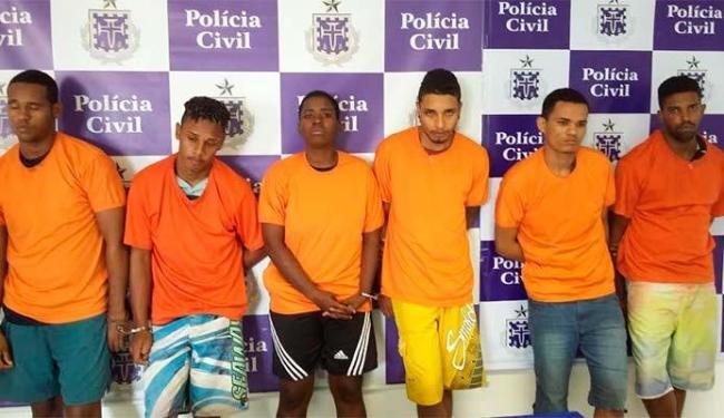 Quadrilha foi apresentada pela polícia nesta segunda-feira, 31 - Foto: Divulgação   Polícia Civil