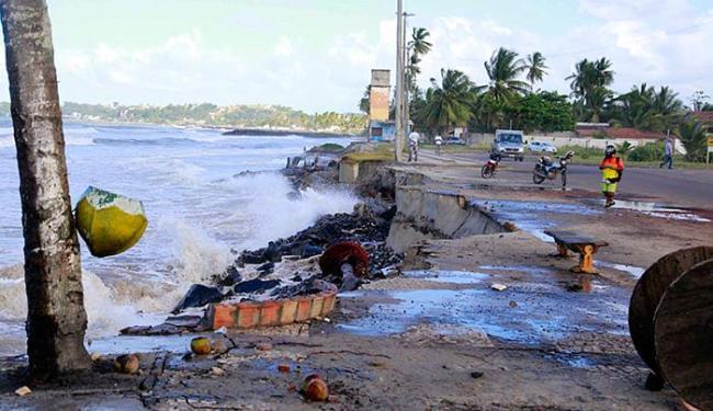 Entre os locais mais atingidos pela maré estão São Miguel e São Domingos - Foto: Gidelzo Silva l Secom Ilhéus