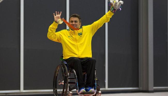Iranildo Espíndola foi um dos atletas de ouro do Parapan - Foto: Divulgação | CBTM
