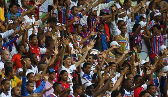 A torcida tricolor vai poder rever o time disputando uma competição internacional - Foto: Eduardo Martins | Ag. A TARDE