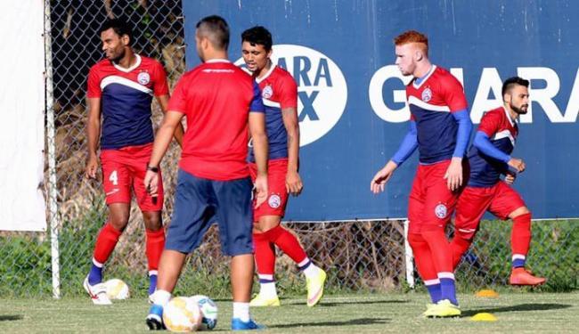 O técnico fez um coletivo tático com a provável equipe titular - Foto: Felipe Oliveira | E.C. Bahia | Divulgação
