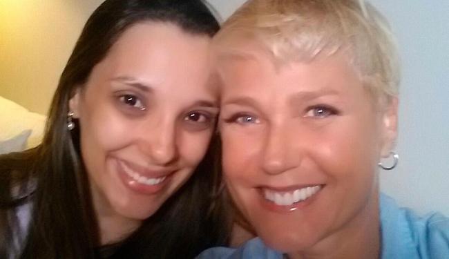 Xuxa foi até a casa de Manuela para gravar o quadro