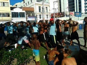 Sete suspeitos foram conduzidos para delegacia e liberados após depoimento - Foto: Divulgação l Polícia Militar da Bahia