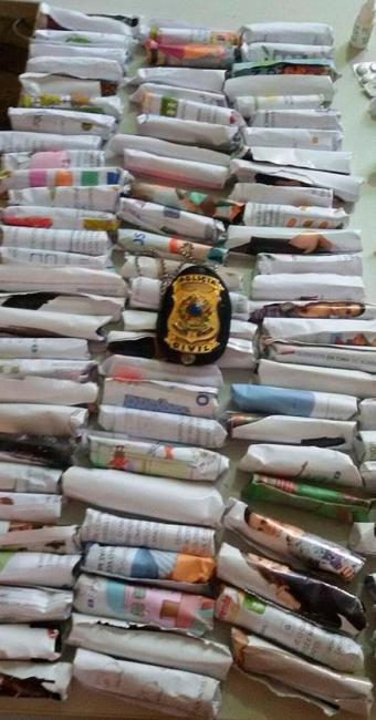Material apreendido pela polícia - Foto: Divulgação   Polícia Civil