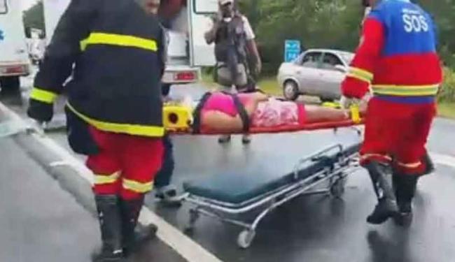 Equipes da Concessionária Bahia Norte foram encaminhadas para prestar atendimento às vítimas - Foto: Reprodução | Facebook|