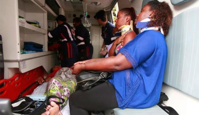 Grávida de seis meses foi uma das feridas no acidente - Foto: Edilson Lima | Ag. A TARDE