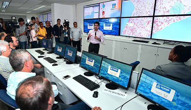 ACM Neto foi ao lançamento, nesta terça-feira, do aplicativo, na Semob, em Amaralina - Foto: Agecom l Divulgação